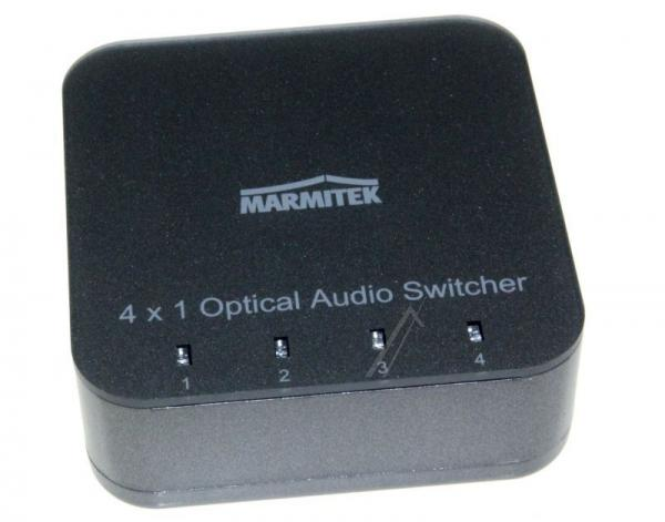 08203 CONNECTTS41 4 INPUT/1 OUTPUT TOSLINK DIGITAL AUDIO SWITCH MIT IR REMOTE MARMITEK,1