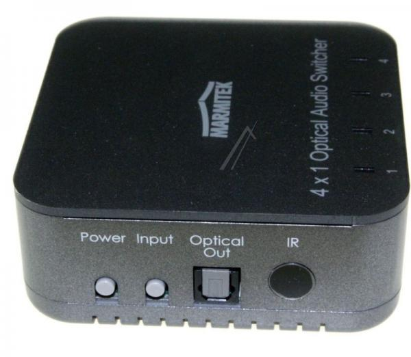 08203 CONNECTTS41 4 INPUT/1 OUTPUT TOSLINK DIGITAL AUDIO SWITCH MIT IR REMOTE MARMITEK,4