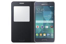 Pokrowiec | Etui S View do smartfona Galaxy Alpha EFCG850BBEGWW (czarne),2