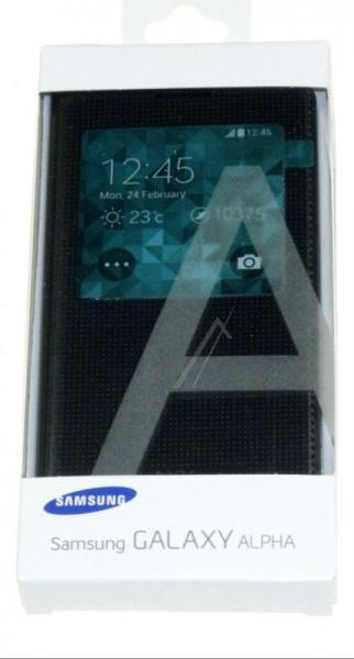 Pokrowiec | Etui S View do smartfona Galaxy Alpha EFCG850BBEGWW (czarne),3