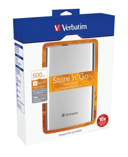 HDD | Dysk twardy Store `n` Go zewnętrzny USB 3.0 500GB Verbatim 53021,2