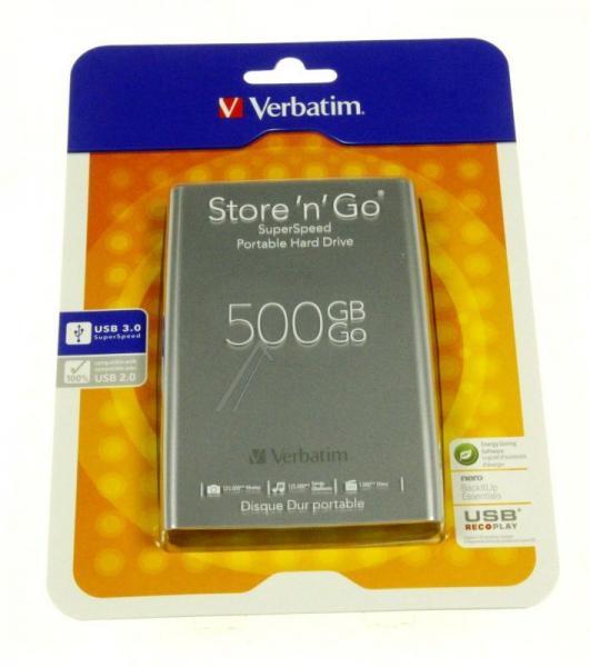 HDD | Dysk twardy Store `n` Go zewnętrzny USB 3.0 500GB Verbatim 53021,3