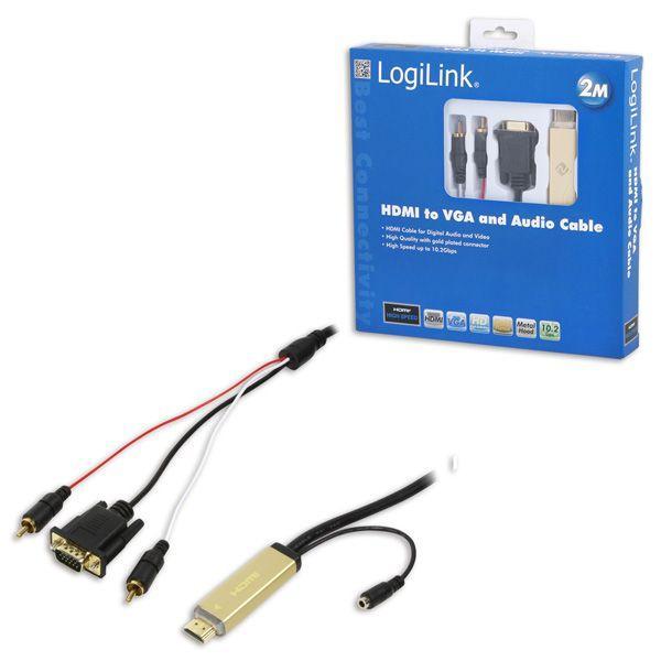CV0052 KONWERTER HDMI/HD-SUB+AUDIO LOGILINK,0