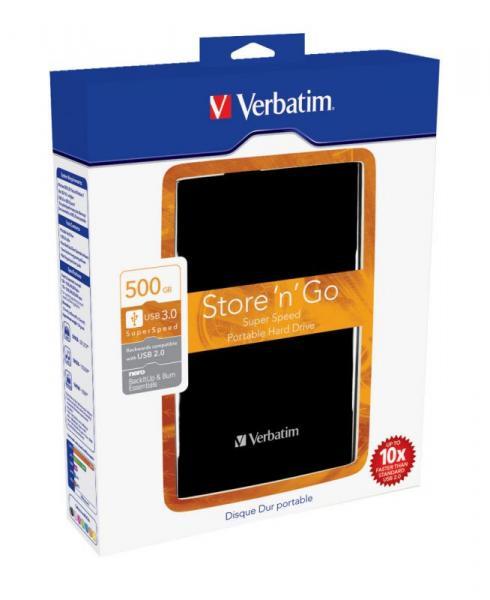 HDD | Dysk twardy Store `n` Go zewnętrzny USB 3.0 500GB Verbatim 53029,2