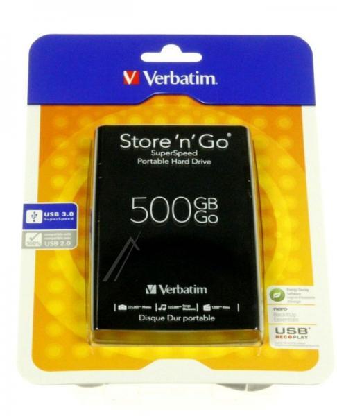 HDD | Dysk twardy Store `n` Go zewnętrzny USB 3.0 500GB Verbatim 53029,3