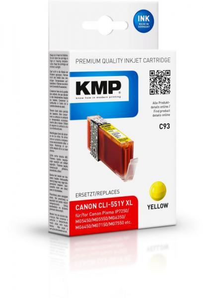 Tusz żółty do drukarki KMP C93,0