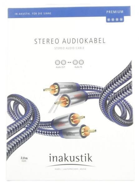 Kabel CINCH 3m (wtyk x2/ wtyk x2) | (Premium II) Inakustik 0040403,2