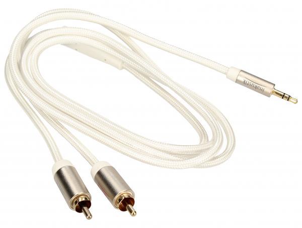 Kabel 1.5m CINCH (wtyk x2) - JACK 3.5mm stereo (wtyk) Inakustik 004100015,0