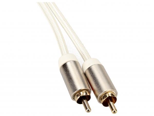 Kabel 1.5m CINCH (wtyk x2) - JACK 3.5mm stereo (wtyk) Inakustik 004100015,2