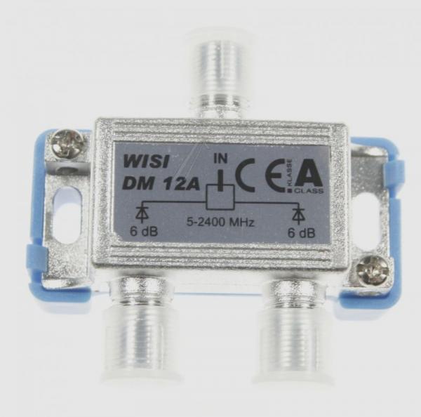 16577 DM12A Rozgałęźnik sat 1/2  2 - 2400MHZ, 6DB WISI,1
