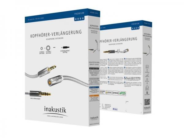 Kabel Jack 3,5mm stereo (gniazdo/ wtyk)   (Premium II) Inakustik 00410202,1