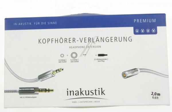 Kabel Jack 3,5mm stereo (gniazdo/ wtyk)   (Premium II) Inakustik 00410202,2