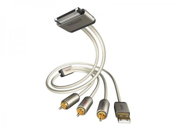 Kabel APPLE - CINCH (wtyk//USB wtyk x3/wtyk) | (złocony) Inakustik 00440101,0