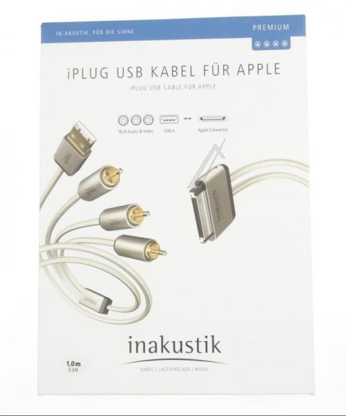 Kabel APPLE - CINCH (wtyk//USB wtyk x3/wtyk) | (złocony) Inakustik 00440101,2