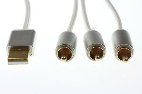 Kabel APPLE - CINCH (wtyk//USB wtyk x3/wtyk) | (złocony) Inakustik 00440101,4