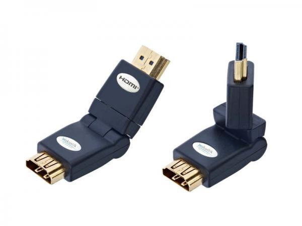 Adapter HDMI Inakustik 0045217 (gniazdo/wtyk) - kątowy,0