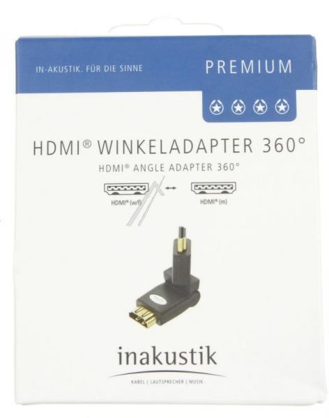 Adapter HDMI Inakustik 0045217 (gniazdo/wtyk) - kątowy,2