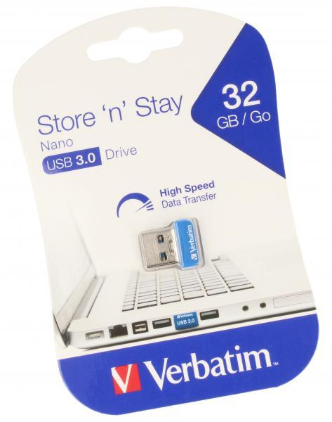 Pendrive | Pamięć USB 3.0 32GB `n` Stay NANO Verbatim 98710,0