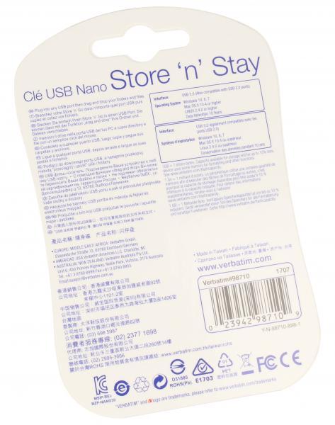 Pendrive | Pamięć USB 3.0 32GB `n` Stay NANO Verbatim 98710,1