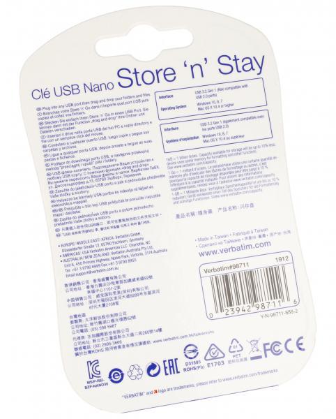 Pendrive | Pamięć USB 3.0 64GB `n` Stay NANO Verbatim 98711,1
