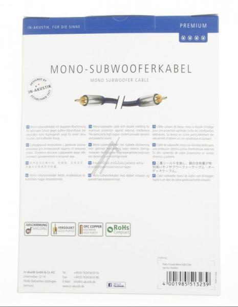 Kabel CINCH 2m Inakustik 00408021 Premium (wtyk/wtyk),3