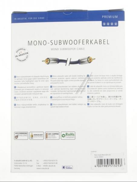 Kabel CINCH 5m Inakustik 00408051 Premium (wtyk/wtyk),3