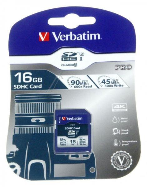 Karta pamięci SD HC 16GB do aparatu fotograficznego Verbatim,2