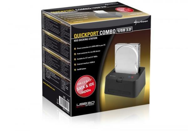 4044951011797 QUICKPORTCOMBO DOCKINGSTATION, SATA/IDE, USB3.0 SHARKOON,1