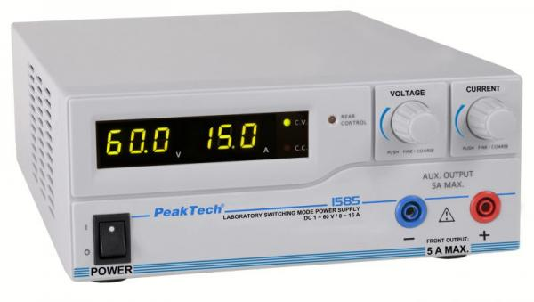 P1585 1585 DIGITAL-LABOR-SCHALTNETZTEIL MIT USB  ~ DC ~ 1-60 V PEAKTECH,0