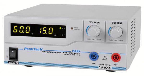 P1585 1585 DIGITAL-LABOR-SCHALTNETZTEIL MIT USB  ~ DC ~ 1-60 V PEAKTECH,1