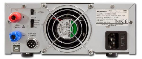 P1585 1585 DIGITAL-LABOR-SCHALTNETZTEIL MIT USB  ~ DC ~ 1-60 V PEAKTECH,2