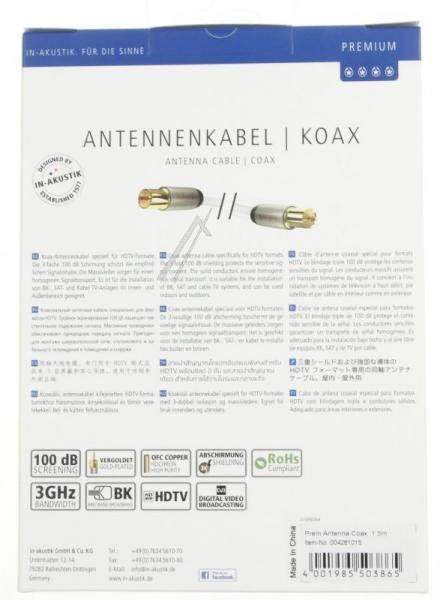 Kabel antenowy Inakustik (wtyk/gniazdo),3