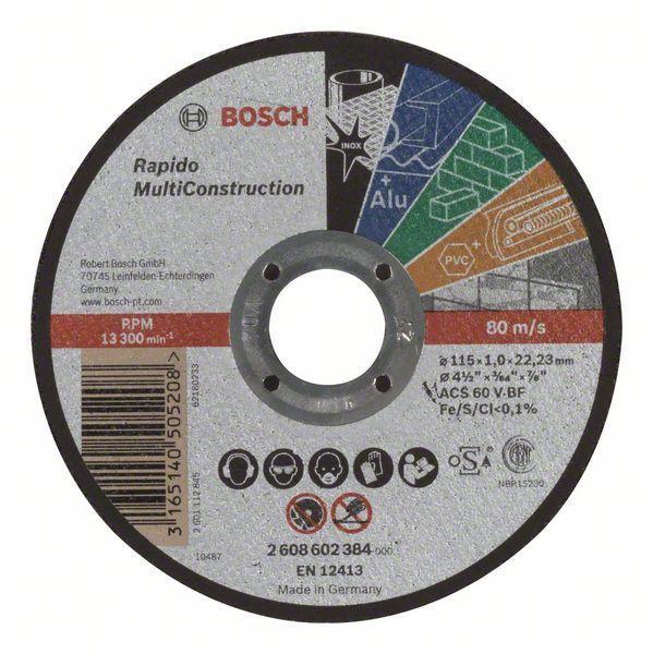 2608602384 TRENNSCHEIBE GERADE RAPIDO MULTI CONSTRUCTION BOSCH,0