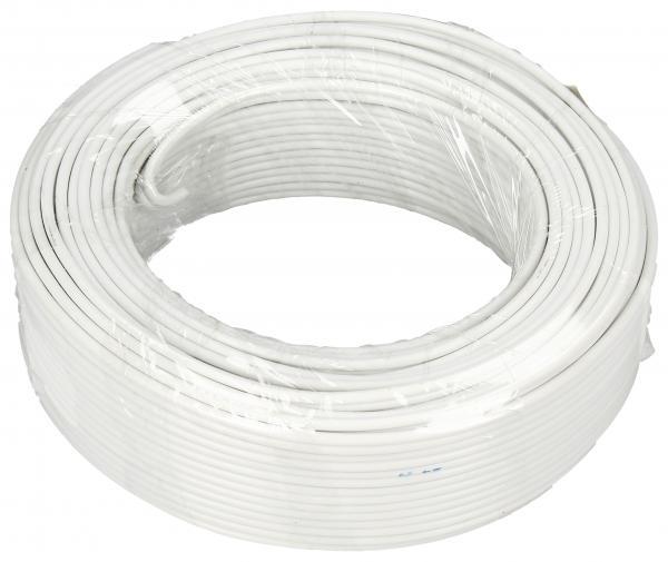 2X0,75MM Kabel głośnikowy, miedź/aluminium, dł. 25m, 2x 0,75 mm2, biały,0