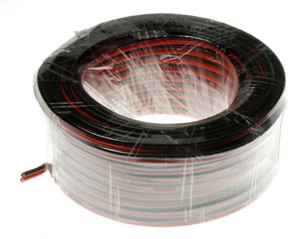 2X0,75MM Kabel głośnikowy, miedź/aluminium, dł. 25m, 2x 0,75 mm2,0