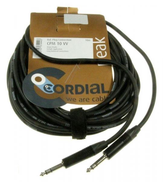 CPM10,0VV Kabel Jack 6,3mm Stereo wtyk / wtyk Jack 6,3mm Stereo, 10m CORDIAL/NEUTRIK,0
