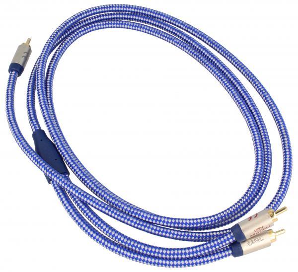 Kabel CINCH 2m (wtyk/ wtyk x2) | (miedziany/pozłacany) Inakustik 0040802,0