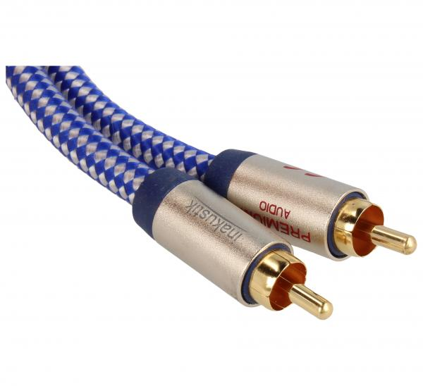 Kabel CINCH 2m (wtyk/ wtyk x2) | (miedziany/pozłacany) Inakustik 0040802,1