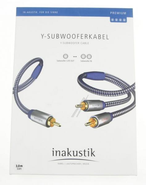 Kabel CINCH 3m (wtyk/ wtyk x2) | (miedziany/pozłacany) Inakustik 0040803,2