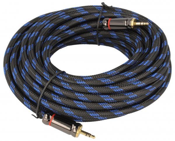 Kabel Jack HQ wt/wt 3,5mm stereo, dł. 10m pozłacany, podwójnie ekranowany,0