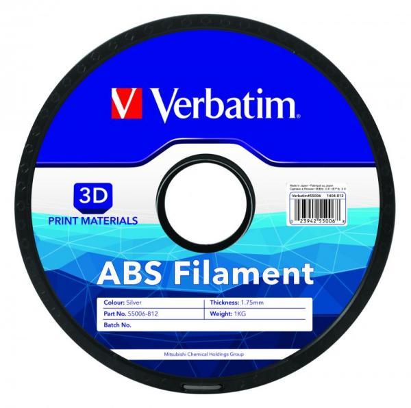 Włókno   Filament ABS 1.75mm 1kg Verbatim 55006 (srebrny),1
