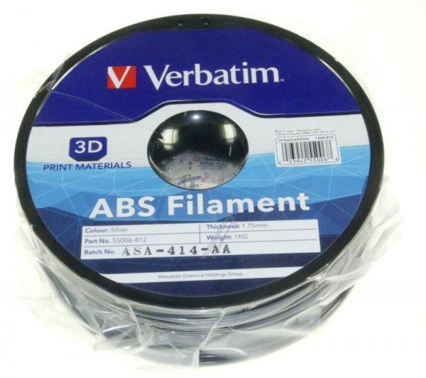 Włókno   Filament ABS 1.75mm 1kg Verbatim 55006 (srebrny),2