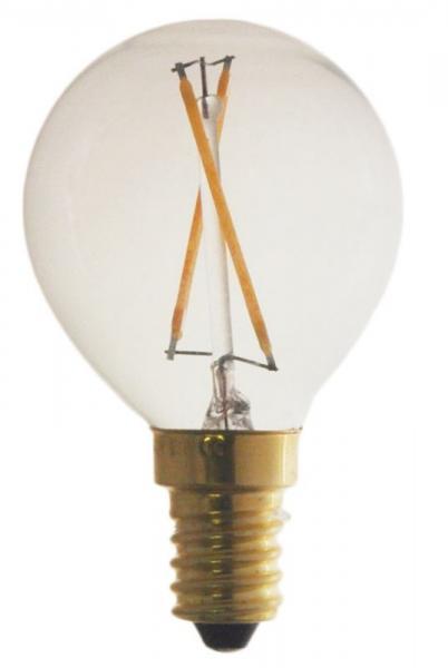Żarówka   Lampa LED E14 2W Kulista (Ciepły biały),0