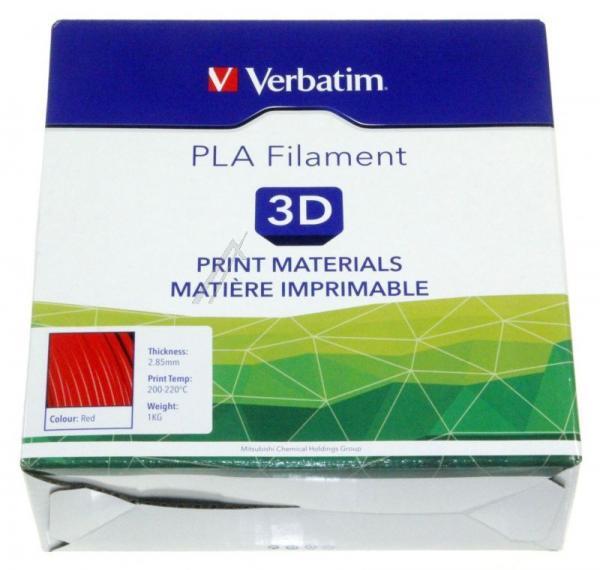 Włókno | Filament PLA 2.85mm Verbatim 55279 (czerwony),2