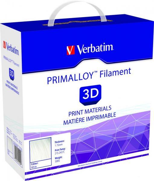Włókno | Filament PRIMALLOY 1.75mm Verbatim 55500 (biały),1