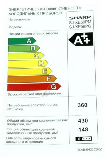 TLABE431CBRZ ETIKETT SHARP,0