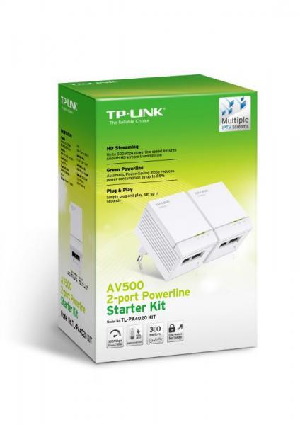 Transmiter | Adapter Powerline zestaw TP-Link TLPA4020KIT,1