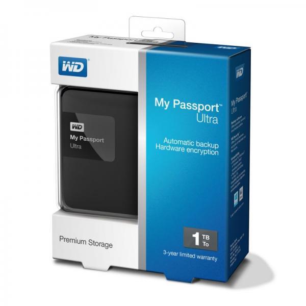 "WDBGPU0010BBKEESN MYPASSPORTULTRA 1TB 2,5\""/USB3.0 FESTPLATTE, BK WESTERN DIGITAL,2"