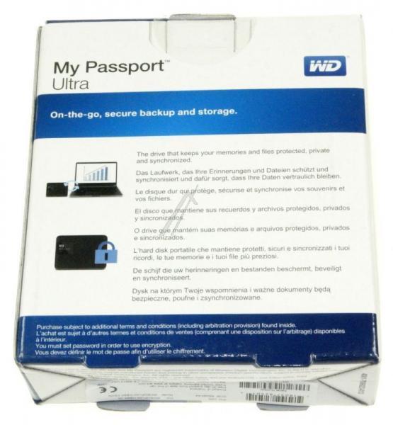 "WDBGPU0010BBKEESN MYPASSPORTULTRA 1TB 2,5\""/USB3.0 FESTPLATTE, BK WESTERN DIGITAL,4"