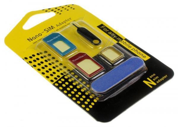 Zestaw adapterów kart sim, aluminiowe,0